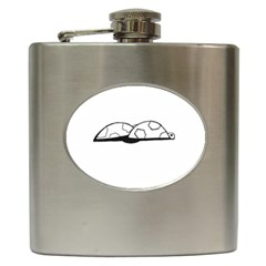 Turtle Hip Flask (6 Oz) by ValentinaDesign