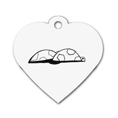 Turtle Dog Tag Heart (one Side) by ValentinaDesign