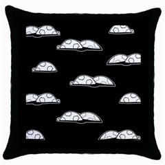 Turtle Throw Pillow Case (black) by ValentinaDesign