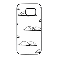 Turtle Samsung Galaxy S7 Edge Black Seamless Case by ValentinaDesign