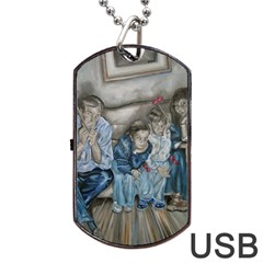 The Nobodies Dog Tag Usb Flash (one Side) by redmaidenart