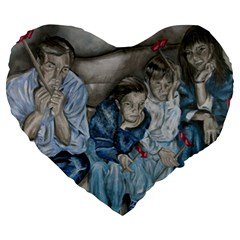 The Nobodies Large 19  Premium Heart Shape Cushions by redmaidenart