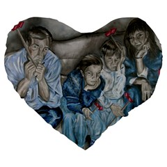 The Nobodies Large 19  Premium Flano Heart Shape Cushions by redmaidenart