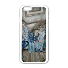 The Nobodies Apple Iphone 6/6s White Enamel Case by redmaidenart