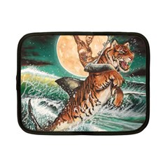 Tiger Shark Netbook Case (small)  by redmaidenart