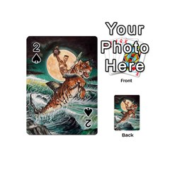 Tiger Shark Playing Cards 54 (mini)  by redmaidenart