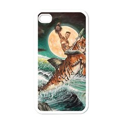 Tiger Shark Apple Iphone 4 Case (white) by redmaidenart