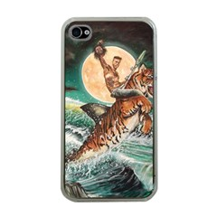 Tiger Shark Apple Iphone 4 Case (clear) by redmaidenart