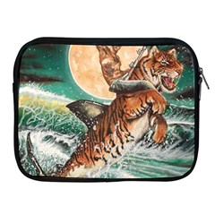 Tiger Shark Apple Ipad 2/3/4 Zipper Cases by redmaidenart
