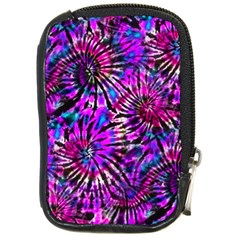 Purple Tie Dye Madness  Compact Camera Cases by KirstenStar