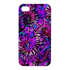 Purple Tie Dye Madness  Apple Iphone 4/4s Premium Hardshell Case by KirstenStar