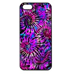 Purple Tie Dye Madness  Apple Iphone 5 Seamless Case (black) by KirstenStar