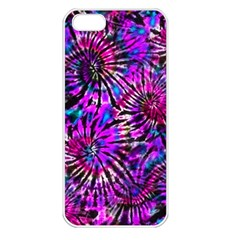 Purple Tie Dye Madness  Apple Iphone 5 Seamless Case (white) by KirstenStar