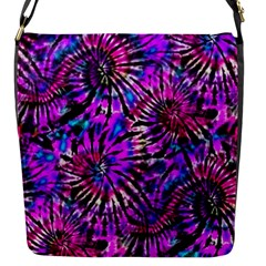 Purple Tie Dye Madness  Flap Messenger Bag (s) by KirstenStar