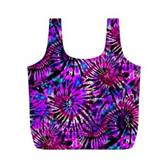 Purple Tie Dye Madness  Full Print Recycle Bags (m)  by KirstenStar