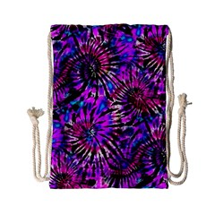 Purple Tie Dye Madness  Drawstring Bag (small) by KirstenStar