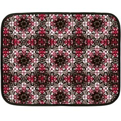 Oriental Ornate Pattern Double Sided Fleece Blanket (mini)  by dflcprints