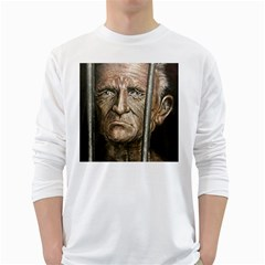 Old Man Imprisoned White Long Sleeve T Shirts by redmaidenart