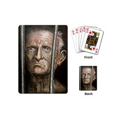 Old Man Imprisoned Playing Cards (mini)  by redmaidenart