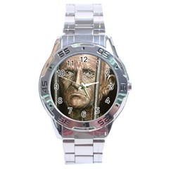 Old Man Imprisoned Stainless Steel Analogue Watch by redmaidenart