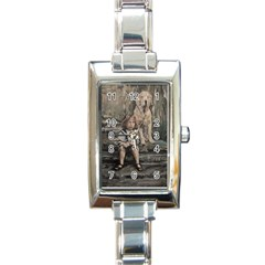 An Old Friend Rectangle Italian Charm Watch