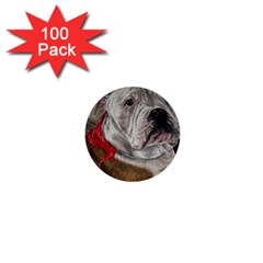 Dog Portrait 1  Mini Buttons (100 Pack)  by redmaidenart