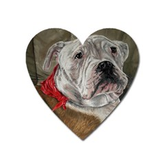Dog Portrait Heart Magnet by redmaidenart