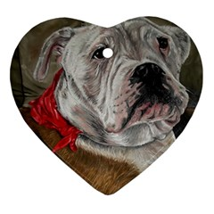 Dog Portrait Heart Ornament (two Sides) by redmaidenart