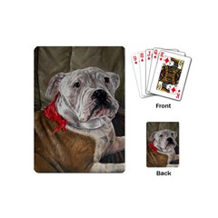Dog Portrait Playing Cards (mini)  by redmaidenart
