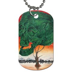 Skull Hedge Dog Tag (one Side) by redmaidenart