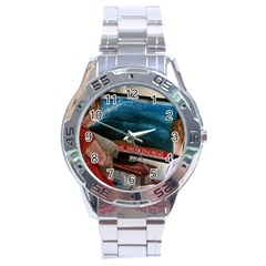 Breaking News Stainless Steel Analogue Watch by redmaidenart