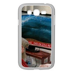 Breaking News Samsung Galaxy Grand Duos I9082 Case (white) by redmaidenart