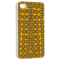Stars And Wooden Flowers In Blooming Time Apple Iphone 4/4s Seamless Case (white) by pepitasart