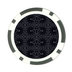 Dark Ethnic Sharp Pattern Poker Chip Card Guard by dflcprints