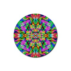 Pattern 854 Rubber Coaster (round)  by ArtworkByPatrick