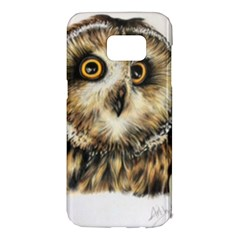 Owl Samsung Galaxy S7 Edge Hardshell Case by ArtByThree