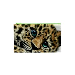 Jaguar Cub Cosmetic Bag (xs) by ArtByThree