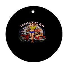 Route 66 Ornament (round) by ArtworkByPatrick