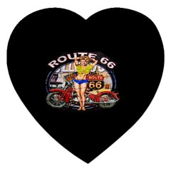 Route 66 Jigsaw Puzzle (heart) by ArtworkByPatrick