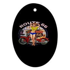 Route 66 Oval Ornament (two Sides) by ArtworkByPatrick