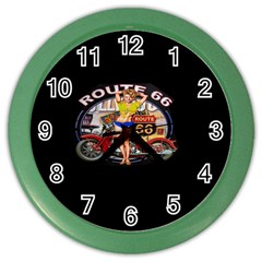 Route 66 Color Wall Clocks by ArtworkByPatrick