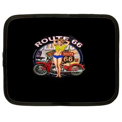 Route 66 Netbook Case (large) by ArtworkByPatrick