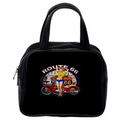 Route 66 Classic Handbags (one Side) by ArtworkByPatrick