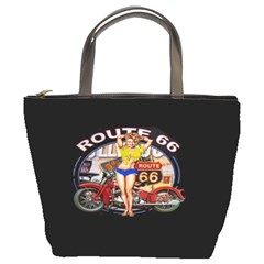 Route 66 Bucket Bags by ArtworkByPatrick