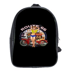 Route 66 School Bag (large) by ArtworkByPatrick