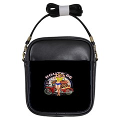 Route 66 Girls Sling Bags by ArtworkByPatrick
