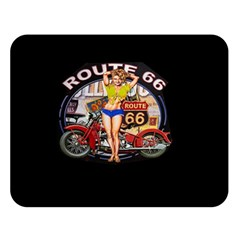 Route 66 Double Sided Flano Blanket (large)  by ArtworkByPatrick