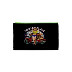 Route 66 Cosmetic Bag (xs) by ArtworkByPatrick