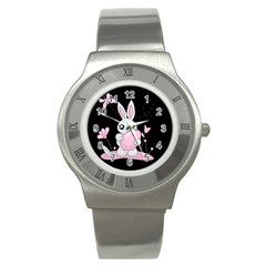 Easter Bunny  Stainless Steel Watch by Valentinaart