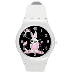 Easter Bunny  Round Plastic Sport Watch (m) by Valentinaart